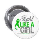 Cinta del verde del cáncer del riñón - lucha como  pin