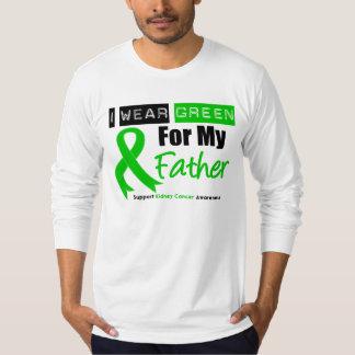 Cinta del verde del cáncer del riñón para mi padre polera