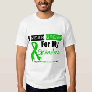 Cinta del verde del cáncer del riñón para mi remera