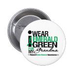 Cinta del verde esmeralda del cáncer de hígado par pins