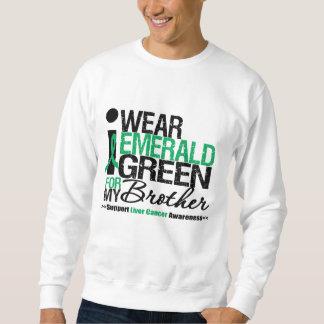 Cinta del verde esmeralda del cáncer de hígado sudaderas encapuchadas