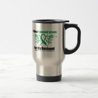 Cinta del verde esmeralda (marido) - cáncer de taza de viaje