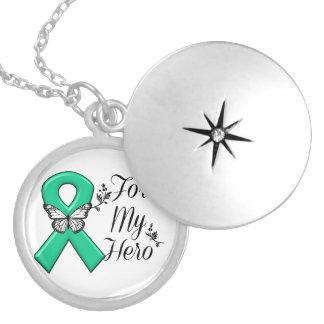 Cinta del verde esmeralda para mi héroe collar con colgante
