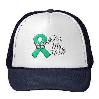 Cinta del verde esmeralda para mi héroe gorra