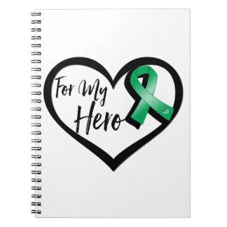 Cinta del verde esmeralda para mi héroe notebook