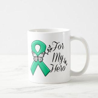 Cinta del verde esmeralda para mi héroe taza clásica