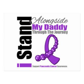 Cinta del viaje para el cáncer pancreático (papá) postal
