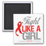 Cinta del VIH del SIDA - lucha como un chica Imán De Frigorífico