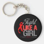 Cinta del VIH del SIDA - lucha como un chica Llavero