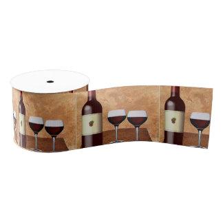Cinta del vino rojo lazo de tela gruesa