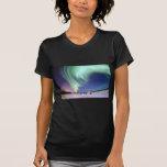 Cinta elegante de la aurora boreal del resplandor  camiseta