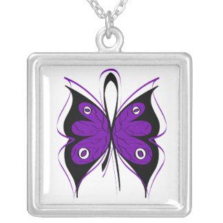 Cinta elegante de la conciencia de la mariposa de  collares personalizados