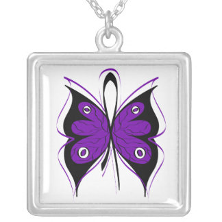 Cinta elegante de la mariposa de la violencia en e pendientes personalizados
