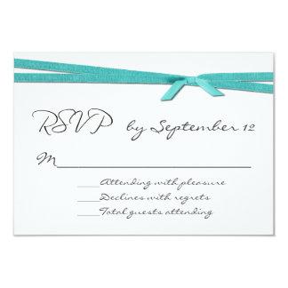 Cinta elegante de la turquesa que casa la tarjeta comunicados personalizados
