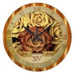 Cinta elegante hermosa del oro de los rosas amaril relojes