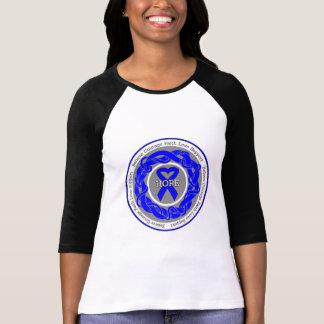 Cinta entrelazada esperanza anal del cáncer camisetas