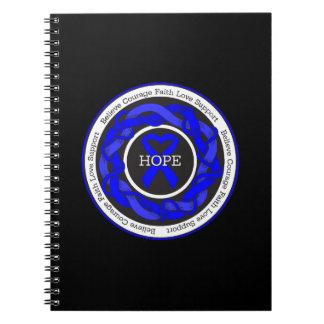 Cinta entrelazada esperanza Ankylosing de Libros De Apuntes Con Espiral