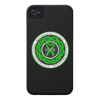 Cinta entrelazada esperanza de la parálisis iPhone 4 Case-Mate protector