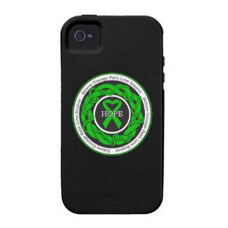 Cinta entrelazada esperanza de la parálisis Case-Mate iPhone 4 carcasa
