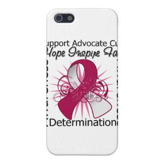 Cinta espiral de las inspiraciones del cáncer de g iPhone 5 protector