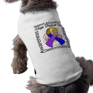 Cinta espiral de las inspiraciones del cáncer de v camiseta de perro