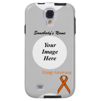 Cinta estándar anaranjada de Kenneth Yoncich Funda Galaxy S4