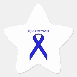 Cinta estándar azul pegatina en forma de estrella