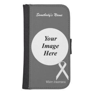 Cinta estándar blanca de Kenneth Yoncich Billetera Para Galaxy S4