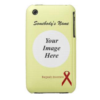 Cinta estándar de Borgoña de Kenneth Yoncich Funda Bareyly There Para iPhone 3 De Case-Mate