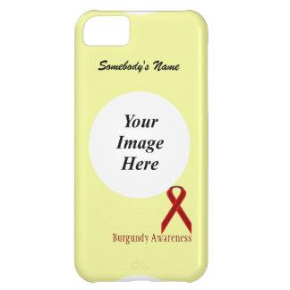Cinta estándar de Borgoña de Kenneth Yoncich Funda Para iPhone 5C