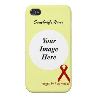 Cinta estándar de Borgoña de Kenneth Yoncich iPhone 4/4S Fundas
