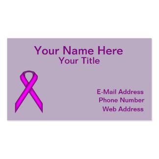 Cinta estándar púrpura tarjetas de visita