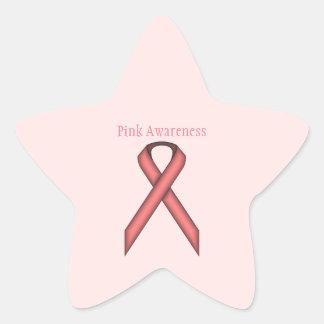 Cinta estándar rosada pegatina en forma de estrella