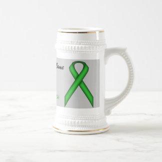 Cinta estándar verde Tmpl de Kenneth Yoncich Jarra De Cerveza
