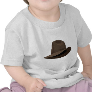 Cinta estrecha de Brown Fedora Camisetas