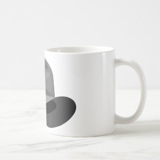 Cinta estrecha gris de Fedora Taza De Café