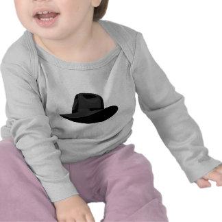 Cinta estrecha negra de Fedora Camisetas
