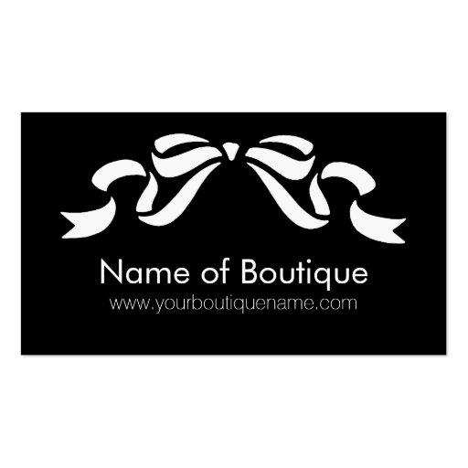 Cinta femenina blanco y negro del boutique moderno tarjetas de visita