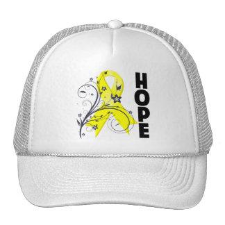 Cinta floral de la esperanza de la prevención del  gorra