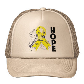 Cinta floral de la esperanza de la prevención del  gorros bordados