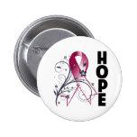 Cinta floral de la esperanza del cáncer principal  pin