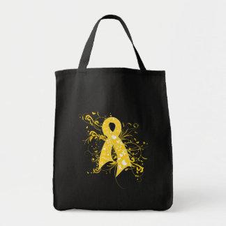 Cinta floral de los remolinos del cáncer de la niñ bolsa