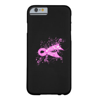 Cinta floral de los remolinos del cáncer de pecho funda de iPhone 6 barely there