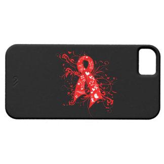 Cinta floral de los remolinos del VIH del SIDA iPhone 5 Fundas