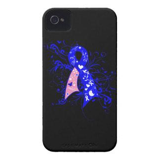 Cinta floral masculina de los remolinos del cáncer iPhone 4 Case-Mate carcasa