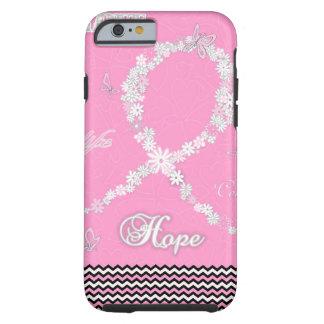 Cinta floral rosada iPhone6 de la conciencia del Funda De iPhone 6 Tough