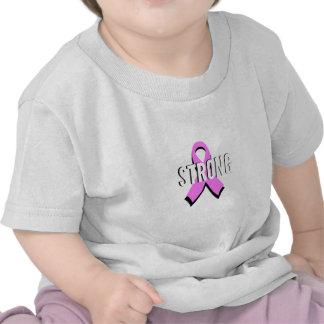Cinta fuerte del rosa del cáncer de pecho del camisetas