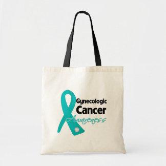 Cinta ginecológica de la conciencia del cáncer bolsa tela barata