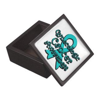 Cinta ginecológica de la conciencia del cáncer cajas de regalo de calidad