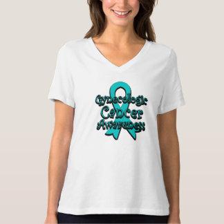 Cinta ginecológica de la conciencia del cáncer camisas